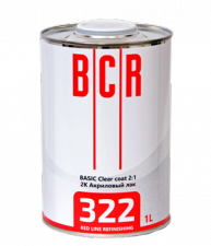 BCR RED Line лак 322 BASIC Clear Coat  1,5 л (комплект)