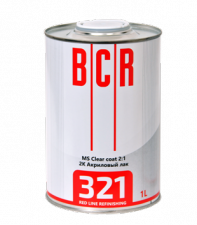 BCR RED Line лак 321 Clear Coat  MS 1,5 л (комплект)